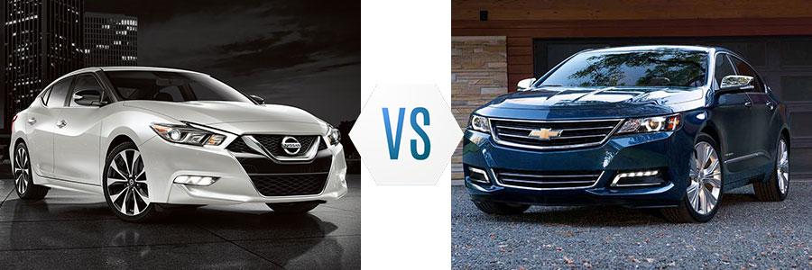 2017 Nissan Maxima vs Chevrolet Impala
