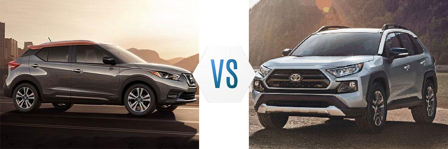 2019 Nissan Kicks vs Toyota RAV4