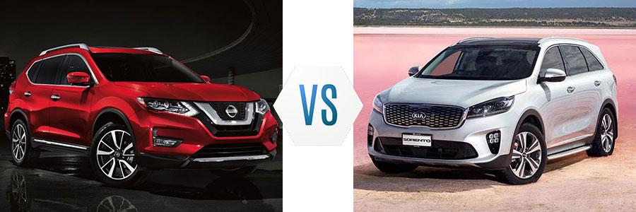 2019 Nissan Rogue vs Kia Sorento