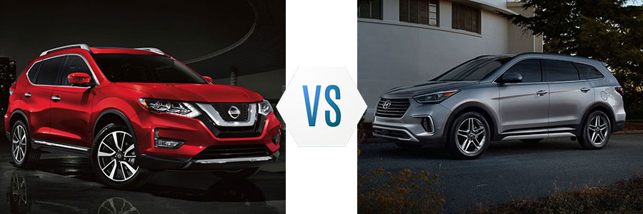 Nissan Rogue Vs Hyundai Santa Fe >> 2019 Nissan Rogue Vs Hyundai Santa Fe Xl